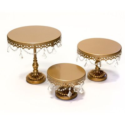 Opulent Treasures 3 Piece Chandelier Cake Plate Stand Set & Reviews | Wayfair