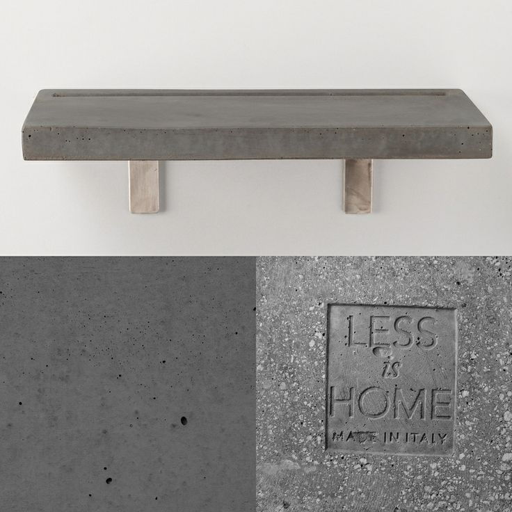 Vega - concrete shelf | anthracite details by LESS is HOME