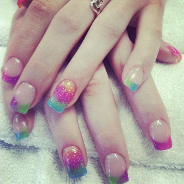Rainbow Acrylic Nails | Nails | Pinterest | Nails ...
