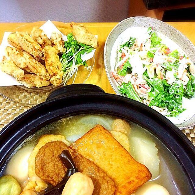 9/28日の晩御飯→おでん、手羽中、カニカマサラダ。 - 9件のもぐもぐ - おでん by ponpoko0718
