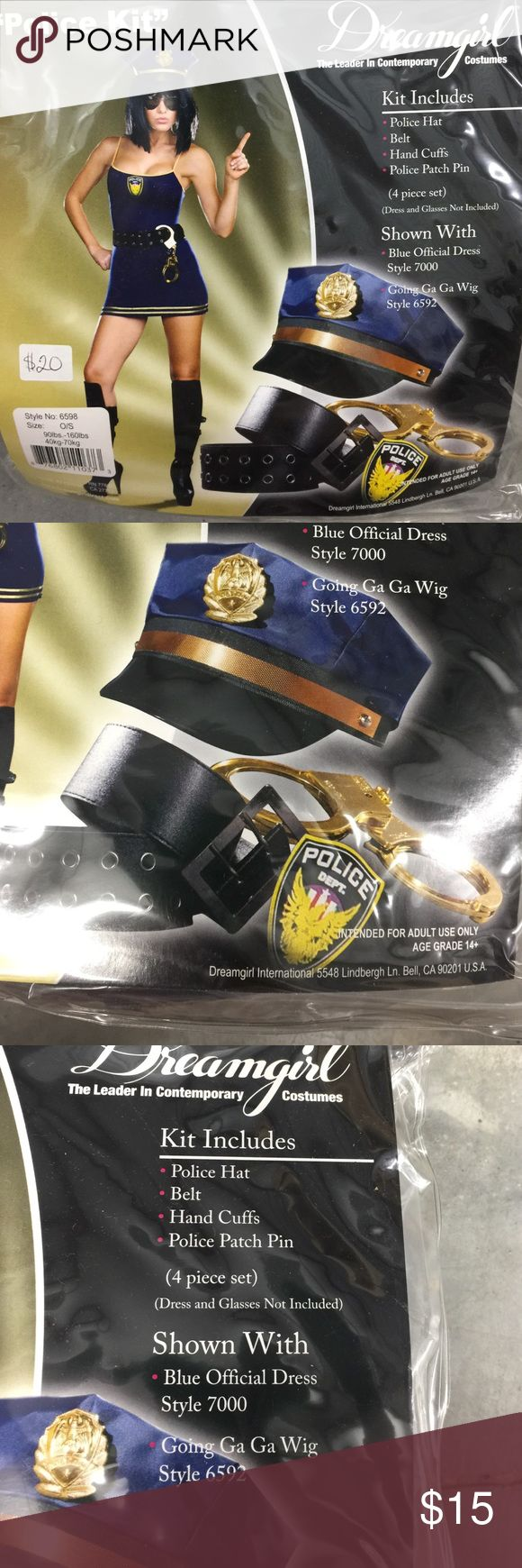 Dreamgirl Police costume Kit Perfect for Halloween! Easy to add to and dress or top & pants. Dreamgirl Accessories Hats