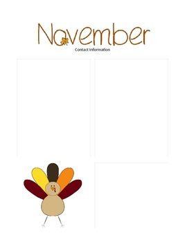 929207e5838e6a8543dc6e23cead714c November Teacher Newsletter Template on owl theme, for first grade, free preschool,