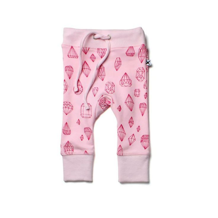 Minti ziggy trackies in diamond print Ballet pink