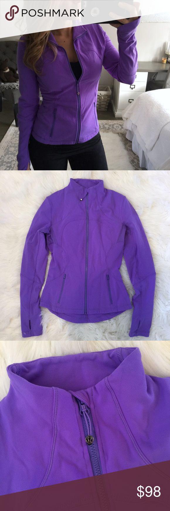 Purple lululemon define zip up jacket sz 6 Lululemon - Pretty purple zip up define jacket - like new - sz 6 lululemon athletica Jackets & Coats