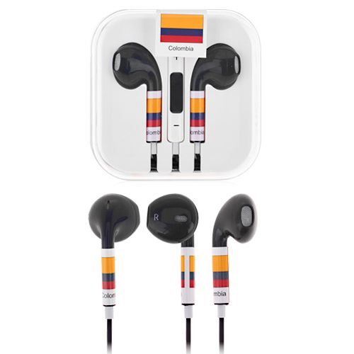 Fifa World Cup Starts today! iSupport Colombia Football World Cup with the Colombia Earphones for Smartphones! #colombia #worldcup #earphones #fifa #smartphone $5.53