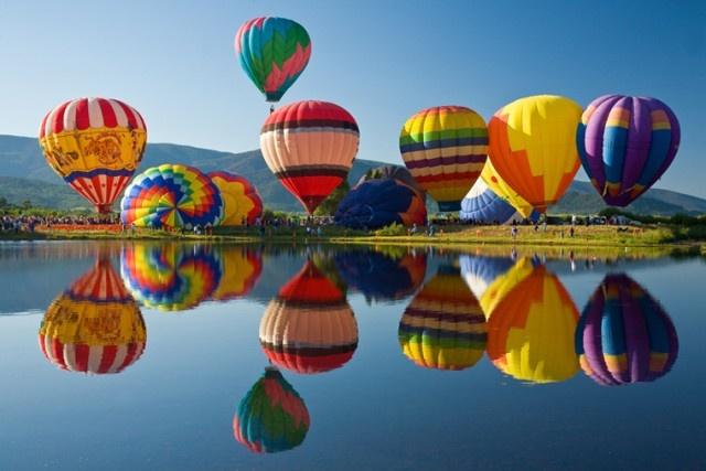 Colorful reflectionsBucketlist, Buckets Lists, Hotair, Colors, Art, Balloons Festivals, Hot Air Balloons, Colorado Spring, Steamboat Springs