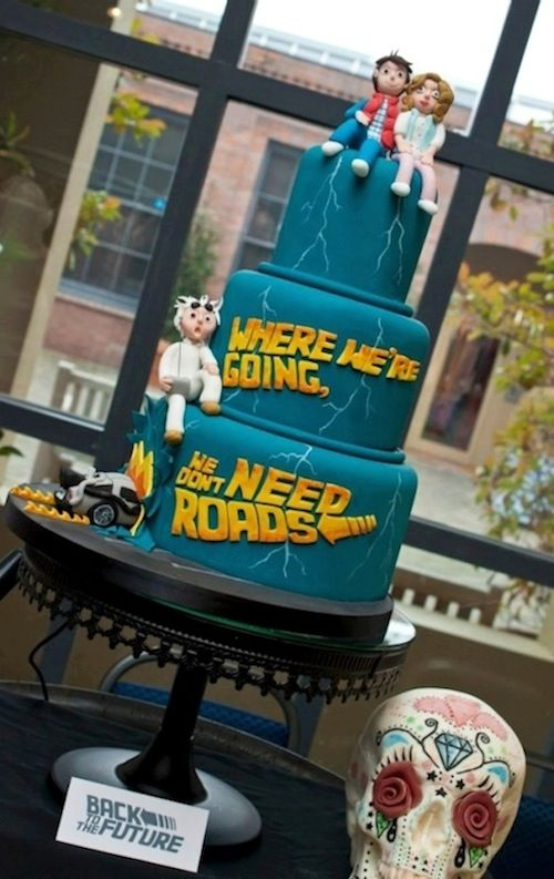 Back To The Future Wedding Cake. Mental note for future.