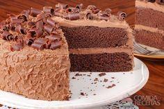 Receita de Bolo de chocolate de camadas em receitas de bolos, veja essa e outras receitas aqui!