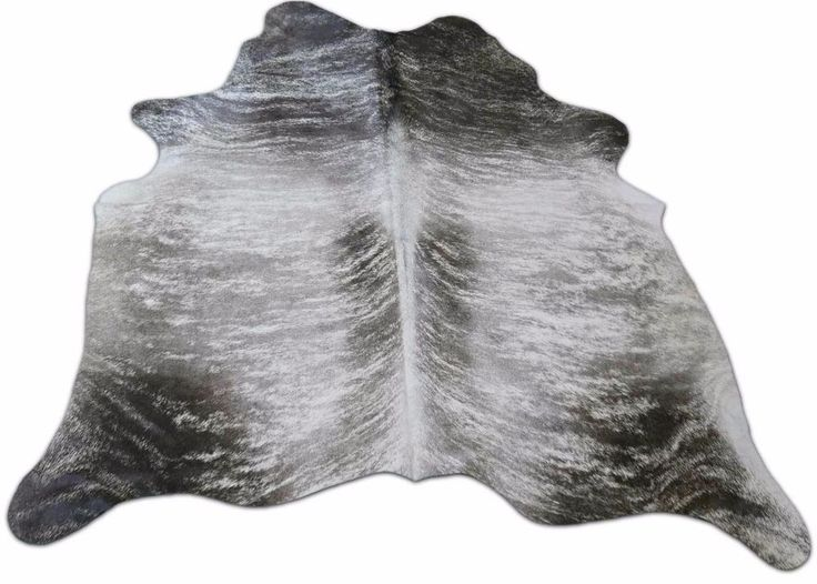 Grey Brindle Cowhide Rug Size: 6.4 X 6 Ft Grey Brindle Cow Hide Rug I