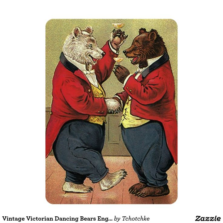 watch wedding invitation movie online eng sub%0A Vintage Victorian Dancing Bears Engagement Party Card  Funny Wedding  InvitationsCustom