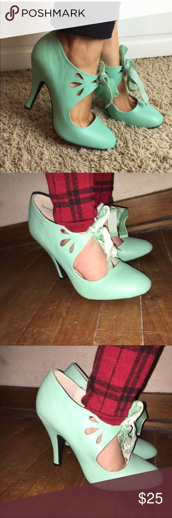Mint Pumps(Toddler Model Not Included) Cute mint pumps! I bought them from here and can't walk a step in them! Shoes Heels