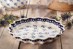 Forma do pieczenia tarty ceramiczna GU-1332 DEK. 890 BOLESŁAWIEC 32 cm