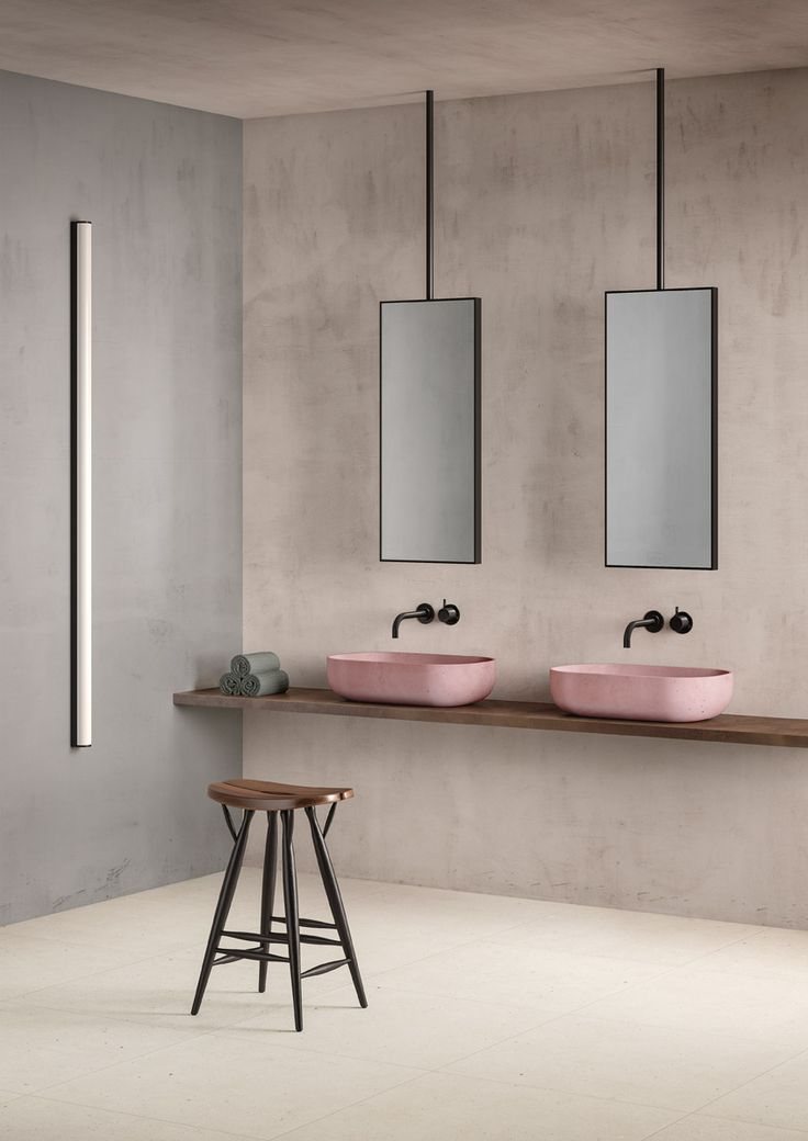 amazing modern bathroom with his and hers sinks blush pink sink with light limestone. Interior Design Ideas. Home Design Ideas