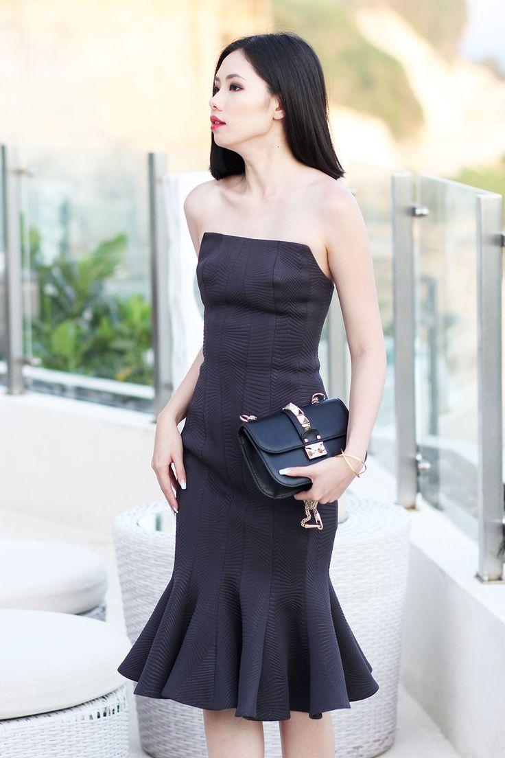 Olivia Lazuardy A CELEBRATION March 26, 2015  Patrick Owen Dress from Belsbee | Valentino Bag & Shoes