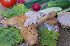 Куриные окорочка с ореховым соусом