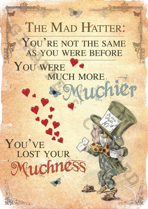 Alice im Wunderland druckbare A4 Poster Art - Mad Hatter Tea Party verloren Ihre…