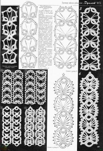 #Crochet_Stitches -- Sensational edgings with charts! via #KnittingGuru