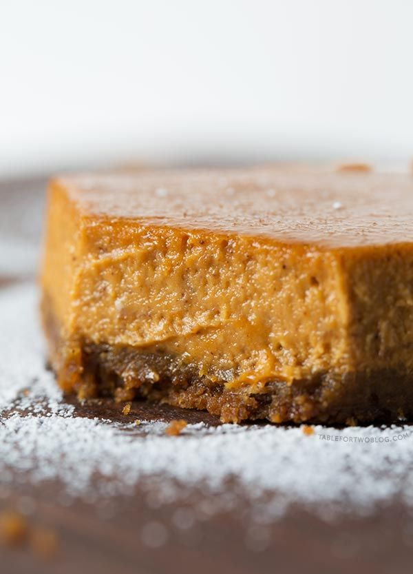 Maple Pumpkin Cheesecake Bars are the perfect dessert for any special occasion! It's all made in the food processor!