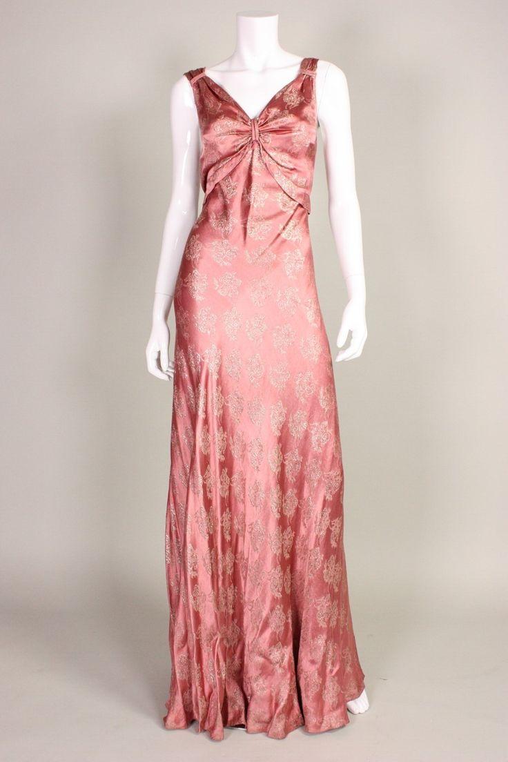 697 best bias cut dresses images on Pinterest | Vintage clothing ...