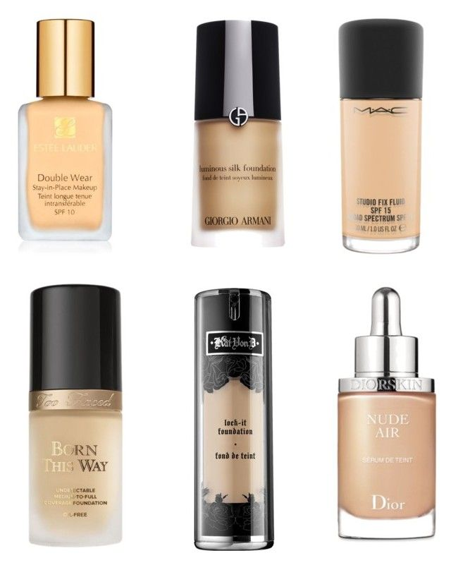 """BEST HIGH END FOUNDATION"" by volddecorltt on Polyvore featuring beauty, Estée Lauder, Giorgio Armani, Kat Von D, Too Faced Cosmetics, MAC Cosmetics and Christian Dior"