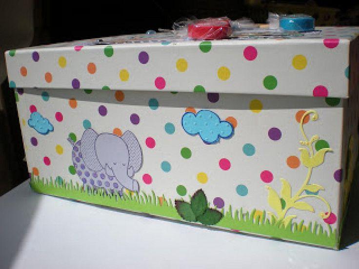 17 best images about cajas decoradas on pinterest slab - Cajas decoradas para bebes ...