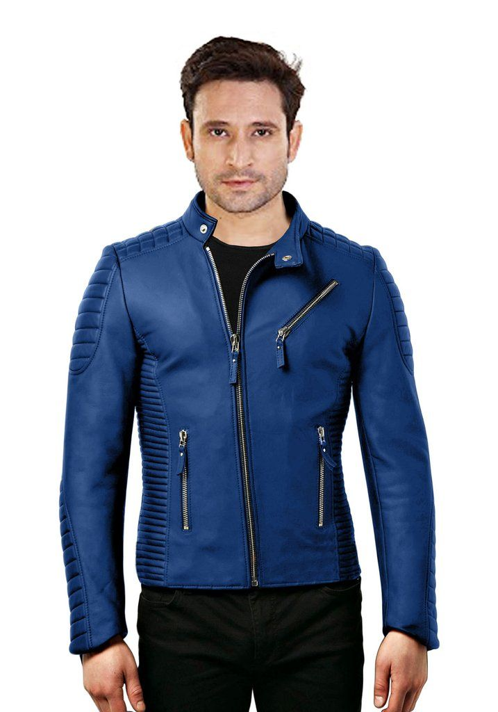 Best 25  Mens blue leather jacket ideas on Pinterest | Fashion ...