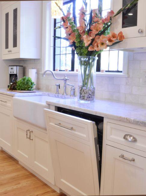 Cabinet front dishwasher