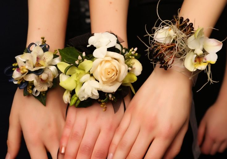 St Peter's Ball 2015. Love these three beautiful corsages! www.whitedoor.co.nz
