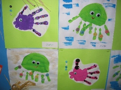 Handprint Ocean Animals Education Ocean Crafts