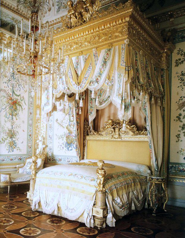 """Empress Maria Feodorovna's bedroom, Pavlovsk,St. Petersburg. The inlaid floor inspired Howard Slatkin's NYC elevator vestibule floor, as seen in his book """"Fifth Avenue Style"""", coming September 2013."""