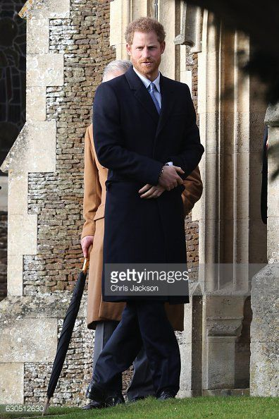 Prince Harry and Phillip, Duke of Edinburgh at church on Christmas Day, 2016.