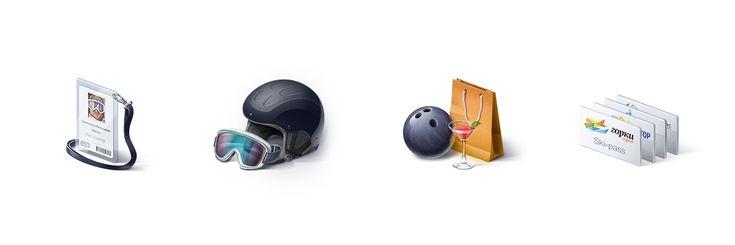 Иконки для туристического оператора, Icons © ВалерияБенецкая