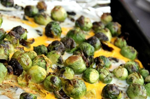 brussel sprout and egg scramble