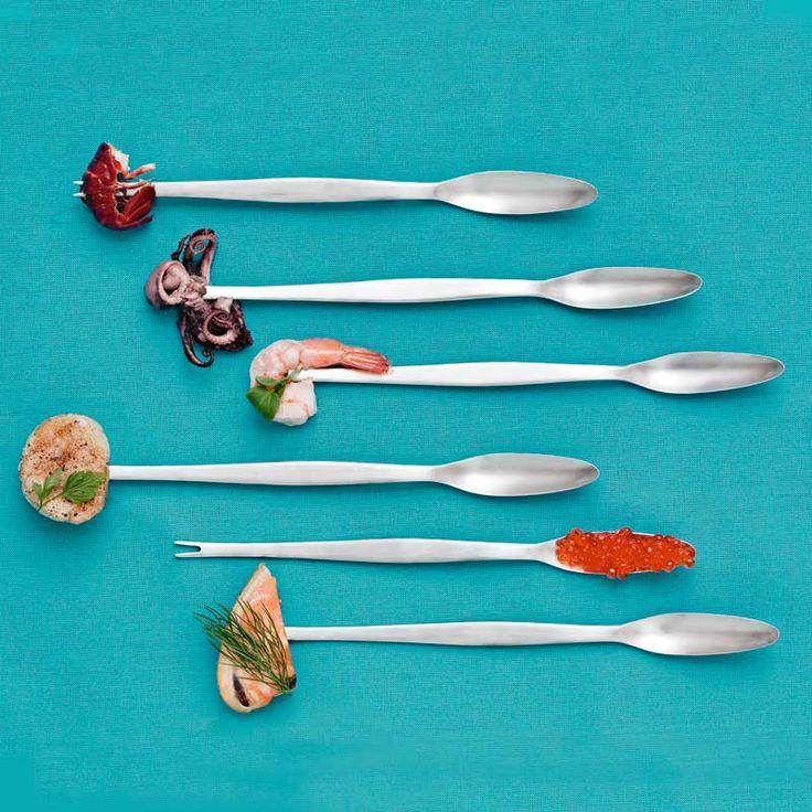 Focus Steel Seafood Fork, 4-pcs, Gense