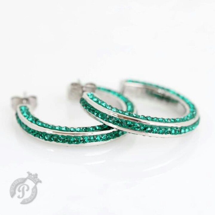 Gorgeous in Emerald Green Crystal and Steel