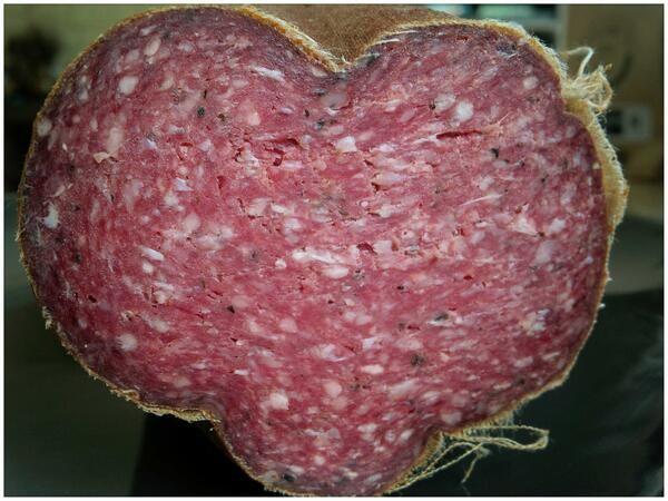 Delicious PEI beef summer sausage made for Brady's Meat & Deli in waterloo county, Ontario. http://bradysmeats.com/
