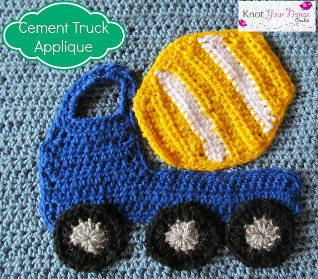 Cement Truck Applique pattern by Teri Heathcote