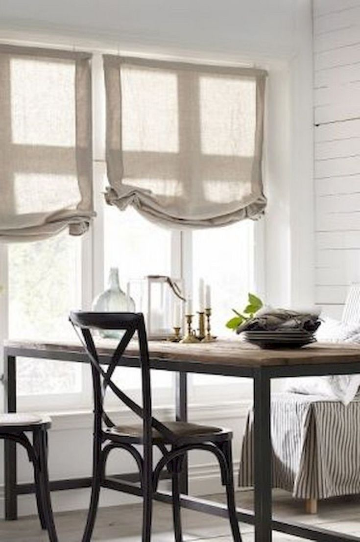 70 beautiful farmhouse kitchen curtains decor ideas with images modern farmhouse dining room on farmhouse kitchen curtains id=99626