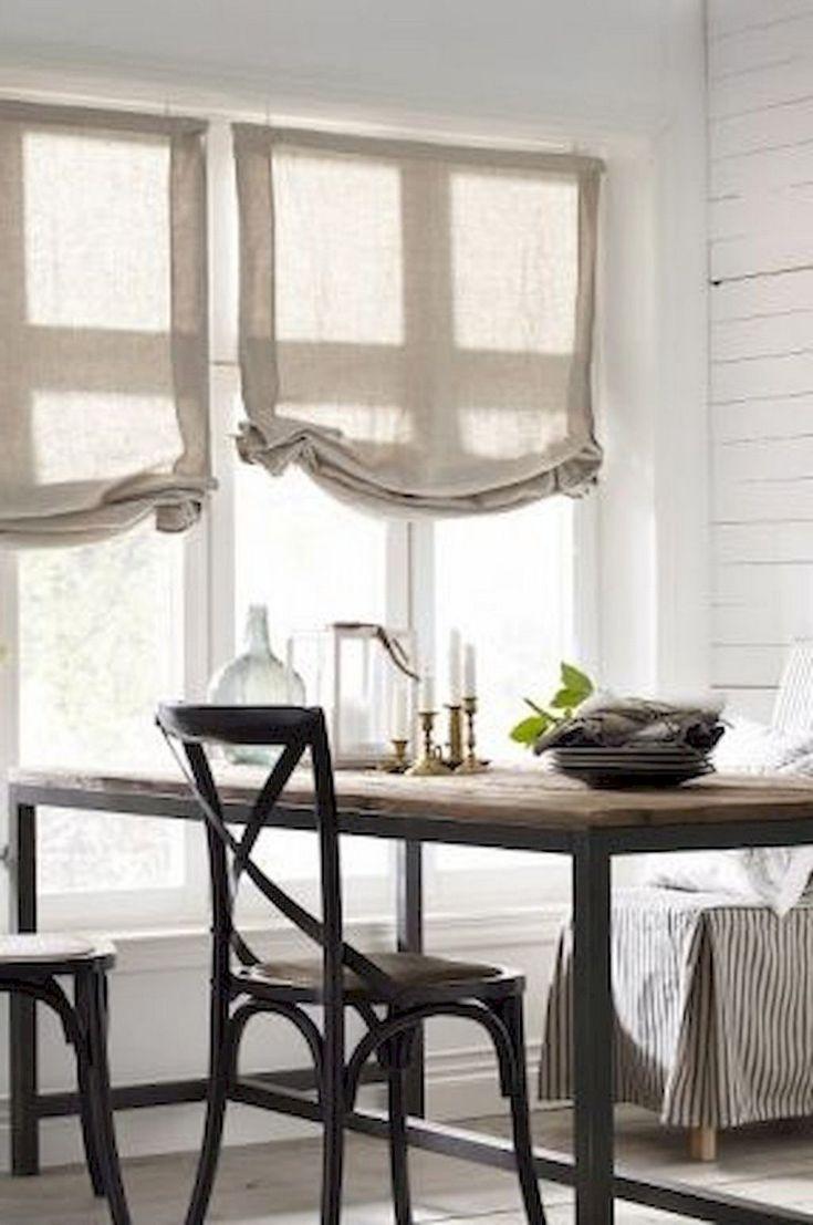 70 BEAUTIFUL FARMHOUSE KITCHEN CURTAINS DECOR IDEAS (With ... on Farmhouse Dining Room Curtain Ideas  id=21248
