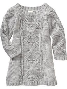 Cable-Knit Sweater Dresses for Baby