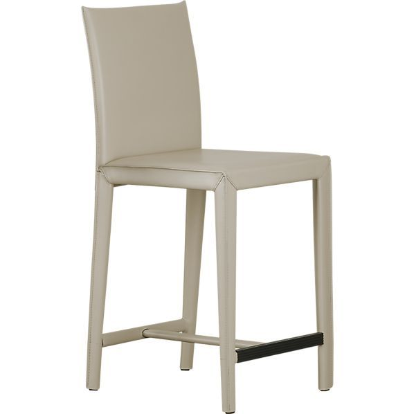 Folio Oyster Leather Barstools in Barstools   Crate and Barrel  sc 1 st  Pinterest & 30 best Bar stools images on Pinterest   Modern bar stools ... islam-shia.org