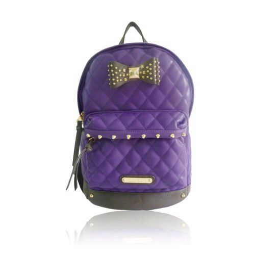 WOMENS LADIES DESIGNER ANNA SMITH QUILTED STUDDED BOW DUFFLE RUCKSACK BACKPACK FASHION SHOULDER BAGS - I74 SHU CRAZY (PURPLE), http://www.amazon.co.uk/dp/B00FK5ZGZO/ref=cm_sw_r_pi_awdl_CiPnwbJNGG5ET