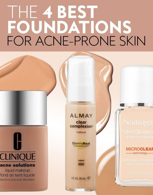 Have Oily Acne Prone Skin Dermatologists Recommend These Full Coverage Foundations Beau Best Foundation For Acne Acne Prone Skin Foundation Acne Prone Skin