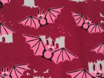 Halloween at DaWanda Bats in Pink  *Jersey fabric*