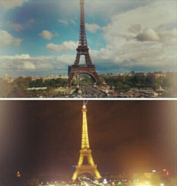 Paris - 2012 - eiffel tower - night & day