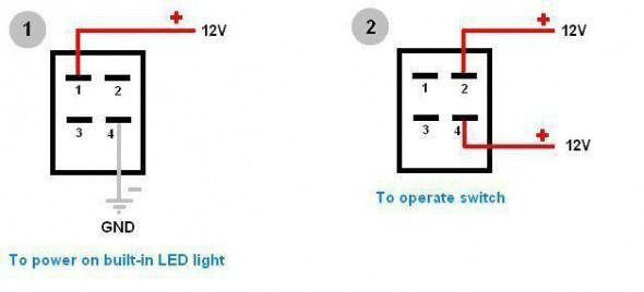 4 Pin Switch Wiring Diagram | Diagram, Switch, Wire  Pinterest