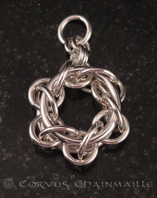 Not Tao 6 pendant by Redcrow at Corvus Chainmaille, via Flickr