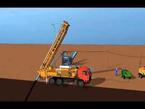 Опытно промышленный участок скважинной гидродобычи золотоносных песков