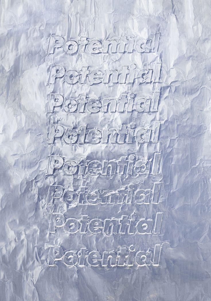 HEGEMONIC 2 — PotentialTypography, Imprint on aluminum paper —October 2015