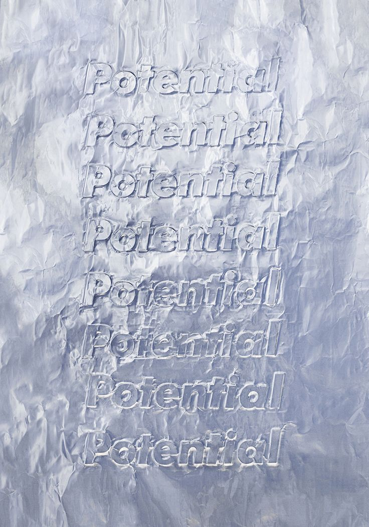 HEGEMONIC 2 — PotentialTypography,  Imprint on aluminum paper — October 2015